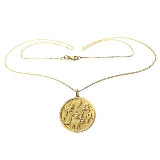 Bespoke Good Luck Charm Pendant 18ct Gold