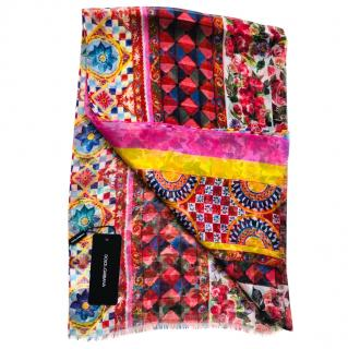 Dolce & Gabbana Roses Sicily Caretto print scarf