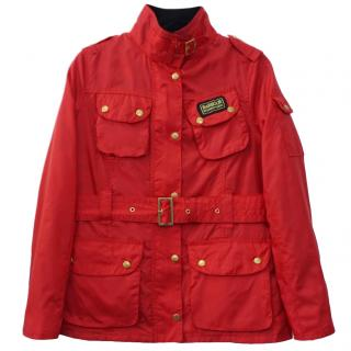 Barbour Bright Red Belted Jacket