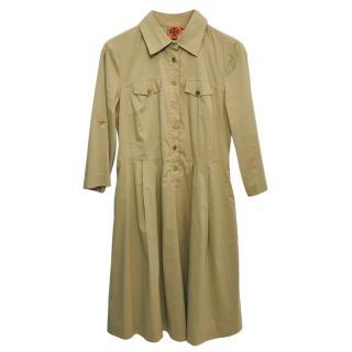 Tory Burch Camel Shirt Dress