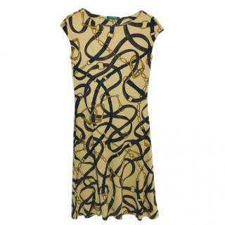 Ralph Lauren printed silk & wool dress