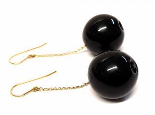 Marion Vidal Black Tic Tac Earrings
