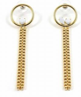 Joomi Lim Hoop & Chain Earrings