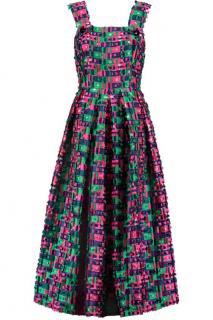 Dolce & Gabbana Pleated Fil Coupe satin twill dress