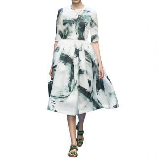 Dolce & Gabbana Brush Stroke Silk Organza Dress