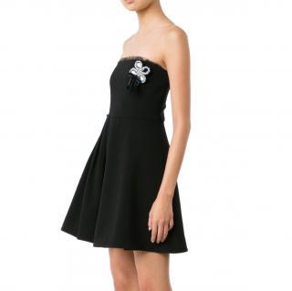 Cinq A Spet Strapless Black Mini Dress
