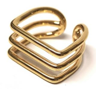 Sebastian Joffrey Monfort Tri Band Gold Plated Ring
