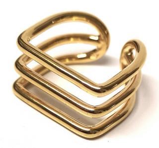Sebastian Joffrey Monfort Tri Band Gold Plated Ring