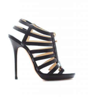 Jimmy Choo Zip-Front Caged Sandals