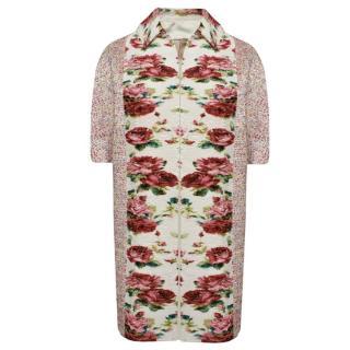 Antonio Marras Floral Print Cocoon Coat