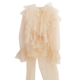 Thierry Mugler silk chiffon blouse