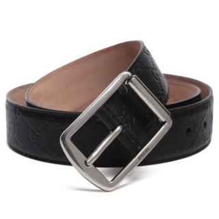 Gucci Men's Guccissima Black Belt