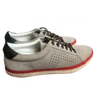 Bottega Veneta Suede & Leather Sneakers