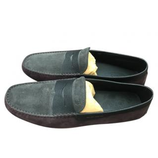 Tod's Suede Two-Tone Driving Loafers