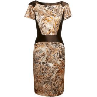 Giles Multi-Print Shift Dress