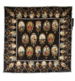 Dolce & Gabbana Catholic Portrait Print Silk Scarf