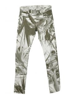 Issues Miyake green  floral print skinny jeans