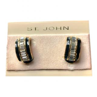 REDUCED FURTHER! St John vintage crystal clip-on earrings