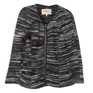 Isabel Marant Etoile knit leather trim cardigan
