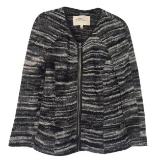 Isabel Marant Etoile knit leather trim cardigan