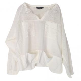 Isabel Marant white mesh top