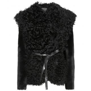 Isabel Marant Drew Black Shearling Jacket