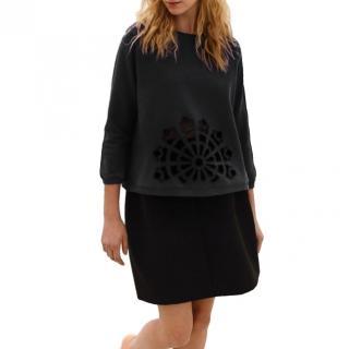 Carven Black Cut-Out Detail Sweatshirt