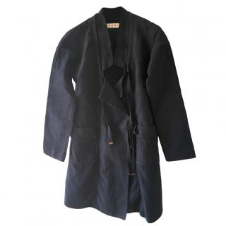 Marni navy wrap coat