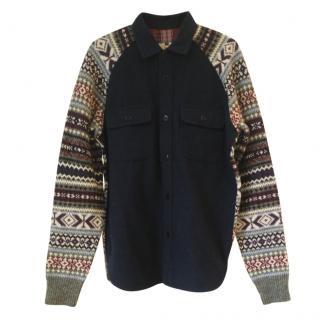 Comme Des Garcons x Gim homme men Limited Edition Wool Blend Shirt sz S
