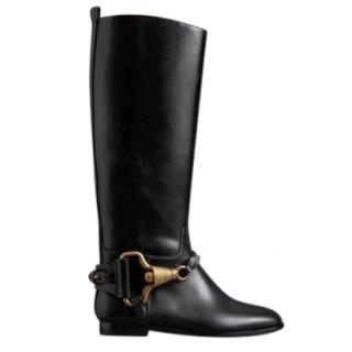 Burberry Calf Leather Long Boots