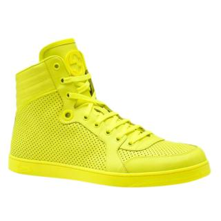 Gucci Coda Neon Leather Hightop Sneakers