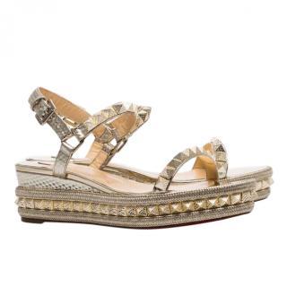 Christian Louboutin Pyraclou 60 Specchio Vintage Sandals