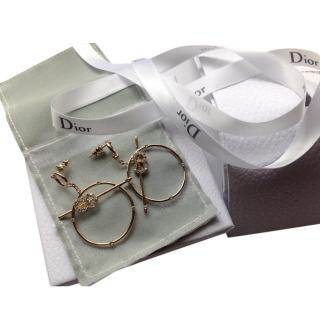 Christian Dior D- Round Earrings