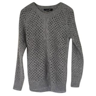 Isabel Marant Alpaca Open Knit Grey Sweater