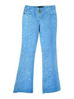 Just Cavalli blue leopard print jeans