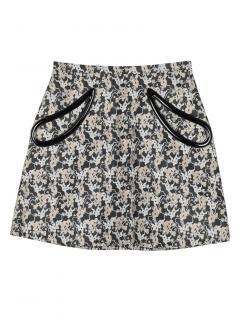 Christopher Kane Silk Blend Printed A-Line Mini Skirt
