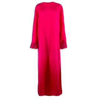 Malizia Hot Pink Silk Dress