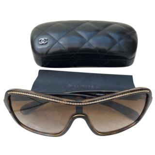 e48d483ad733 Chanel Chain Link Shield Sunglasses