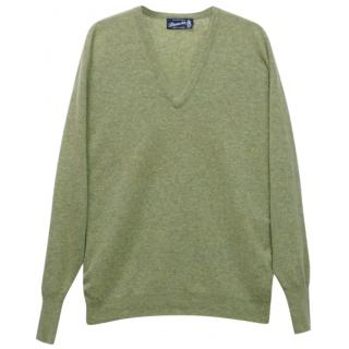 Drumohr Men's Green Cashmere Sweater