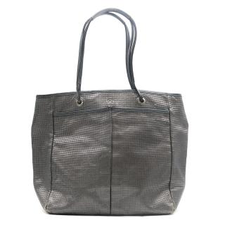 Anya Hindmarch Silver Leather Tote Bag