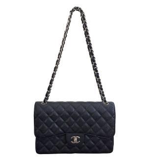 Chanel black timeless flap bag
