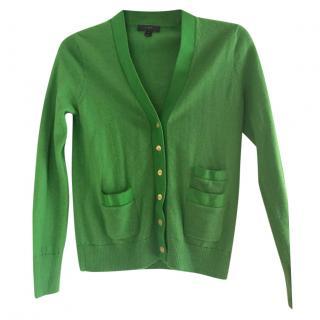 J Crew Green Merino Wool Cardigan
