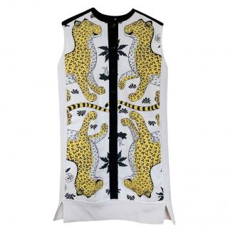 Hermes Les Leopards by Christiane Vauzelles Midi Dress