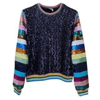 Mary Katrantzou Magpie Sequinned sweater