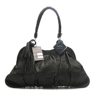 Maisha Dark Brown Python Leather Bag