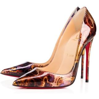 Christian Louboutin 100mm Patent Saturne Pigalle Follies