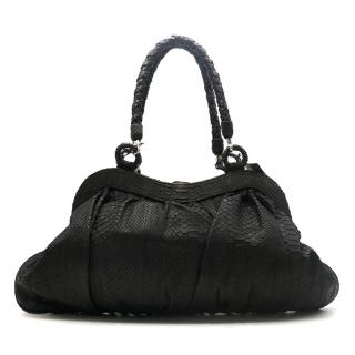 Maisha Brown & Black Python Leather Bag
