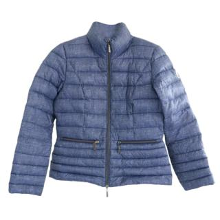 Beaumont fitted blue puffer jacket