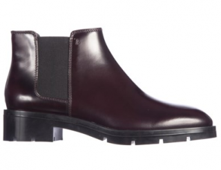 Tod's Bordeaux Patent Leather Ankle Boots