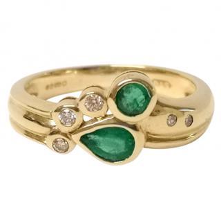 Bespoke Diamond & Emerald Ring